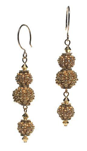 Triple Golden Earrings