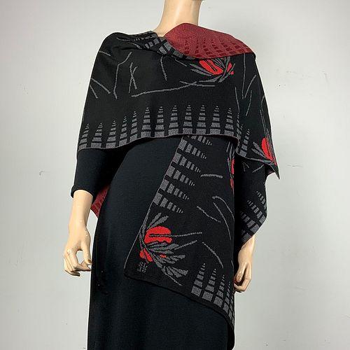 100%  Egyptian Cotton Knit Blossom Cape
