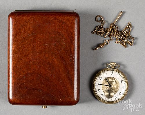 Elgin gold filled pocket watch and fob, #28652831