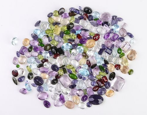 260.6 cttw. Loose Mixed-Cut Multicolored Gemstones