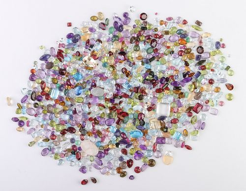 351.2 cttw. Loose Mixed-Cut Multicolored Gemstones