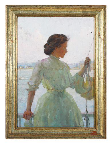 ANNA LEE STACEY, Portrait, O/B