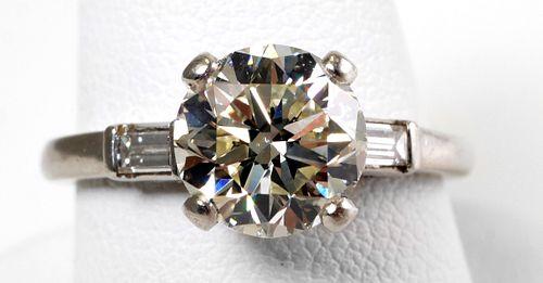 1.8 Carat DIAMOND RING Round, Platinum