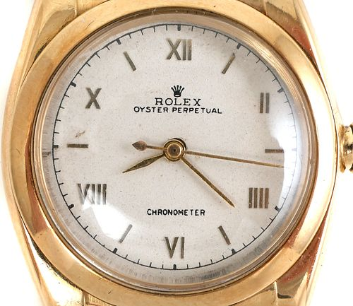 1940s ROLEX Bubble Back 14k Gold Watch