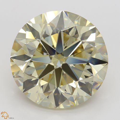 20.03 ct, Brn. Yellow/VS1, Round cut Diamond