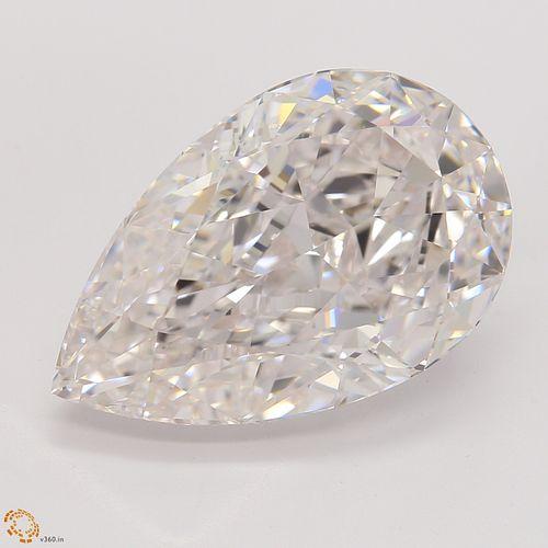 6.29 ct, Pink/IF, Pear cut Diamond
