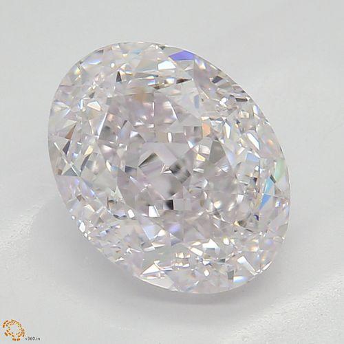 1.53 ct, Lt. Pink/VS1, Oval cut Diamond