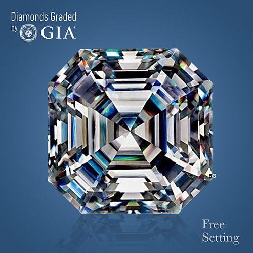 5.28 ct, Color D/FL, Square Emerald cut Diamond
