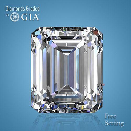 5.14 ct, Color D/FL, Emerald cut Diamond