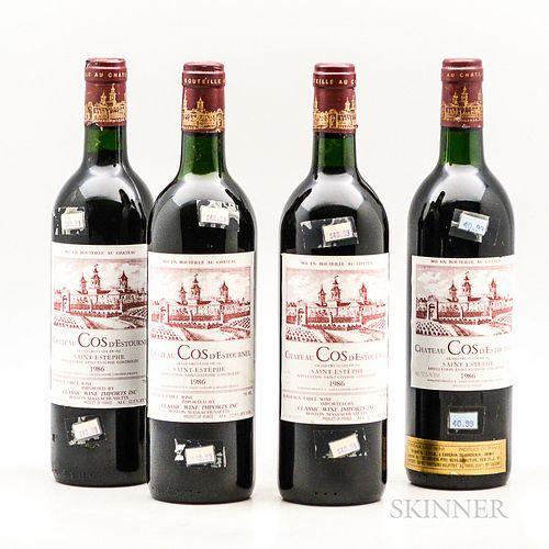 Chateau Cos d'Estournel 1986, 4 bottles