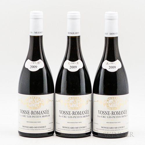 Mongeard Mugneret Vosne Romanee Les Petits Monts 2009, 3 bottles