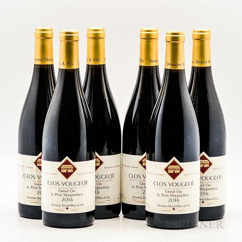 Rion Clos Vougeot 2016, 6 bottles