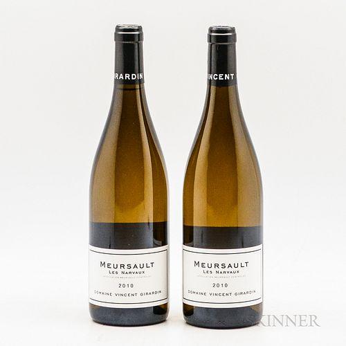 Vincent Girardin Meursault Narvaux 2010, 2 bottles