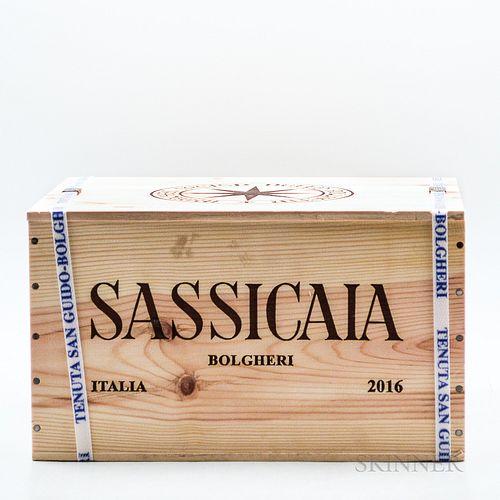 Tenuta San Guido Sassicaia 2016, 6 bottles (banded owc)