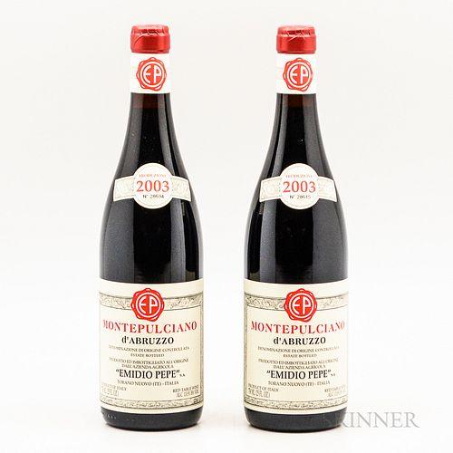 Emidio Pepe Montepulciano d'Abruzzo 2003, 2 bottles