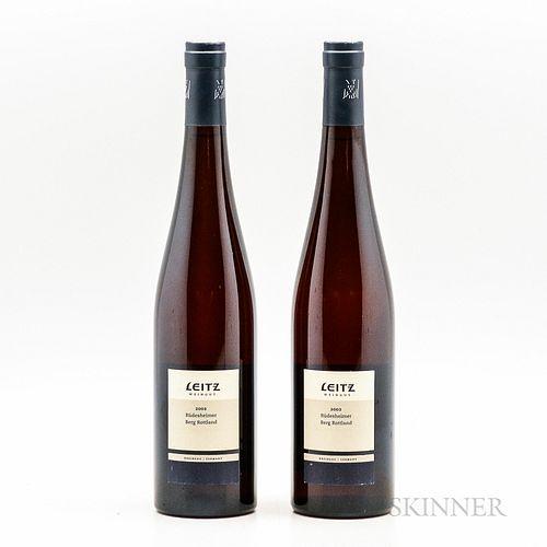 Leitz Weingut Riesling Rudescheimer Berg Rottland Spatlese Trocken 2002, 2 bottles