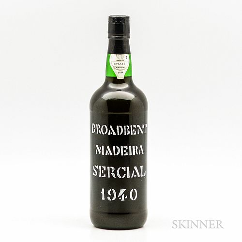 Broadbent Madeira Sercial 1940, 1 bottle
