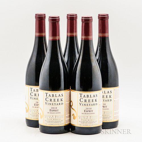 Tablas Creek Esprit de Beaucastel 2010, 5 bottles