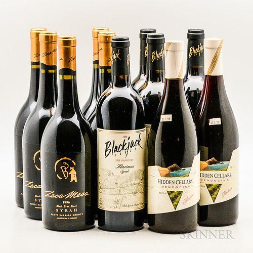 Mixed Syrah, 11 bottles