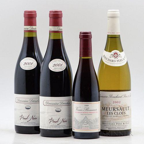 Mixed Burgundy & Pinot Noir, 3 bottles1 demi bottle