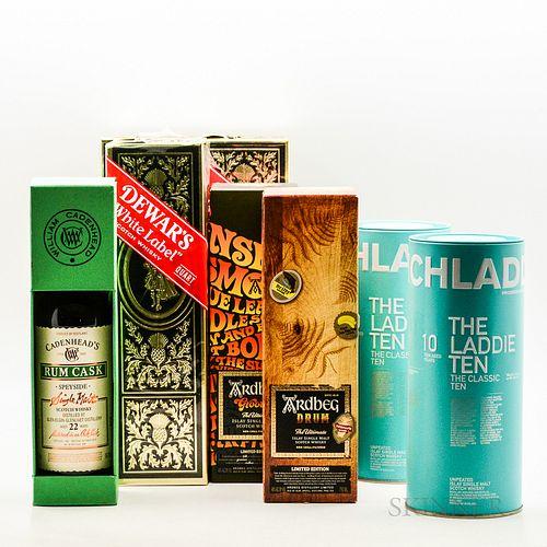 Mixed Scotch, 3 750ml bottles (1 oc) 1 70cl bottle 3 4/5 quart bottles (oc) Spirits cannot be shipped. Please see http://bit.ly/sk-s...