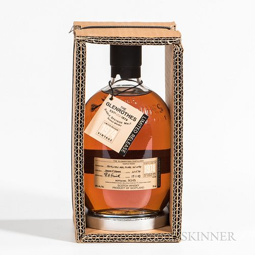 Glenrothes Limited Release 29 Years Old 1974, 1 750ml bottle (oc) Spirits cannot be shipped. Please see http://bit.ly/sk-spirits for...