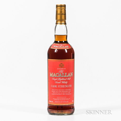 Macallan Cask Strength, 1 750ml bottle Spirits cannot be shipped. Please see http://bit.ly/sk-spirits for more info.