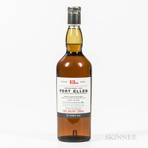 Port Ellen 34 Years Old 1978, 1 750ml bottle Spirits cannot be shipped. Please see http://bit.ly/sk-spirits for more info.
