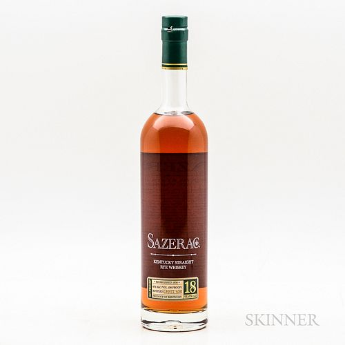 Buffalo Trace Antique Collection Sazerac Rye 18 Years Old, 1 750ml bottle Spirits cannot be shipped. Please see http://bit.ly/sk-spi...