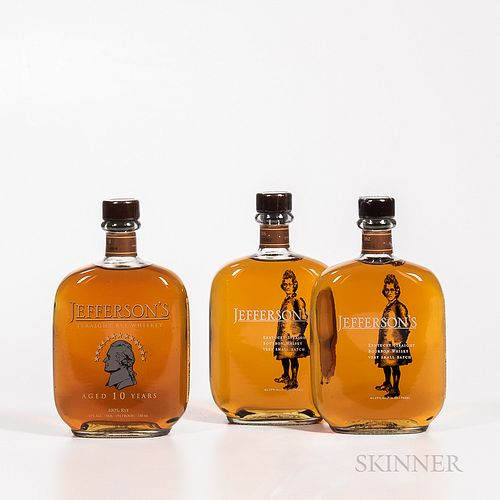 Jefferson's, 3 750ml bottles Spirits cannot be shipped. Please see http://bit.ly/sk-spirits for more info.