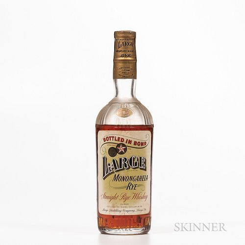 Large Monongohela Rye 5 Years Old 1934, 1 4/5 quart bottle Spirits cannot be shipped. Please see http://bit.ly/sk-spirits for more i...