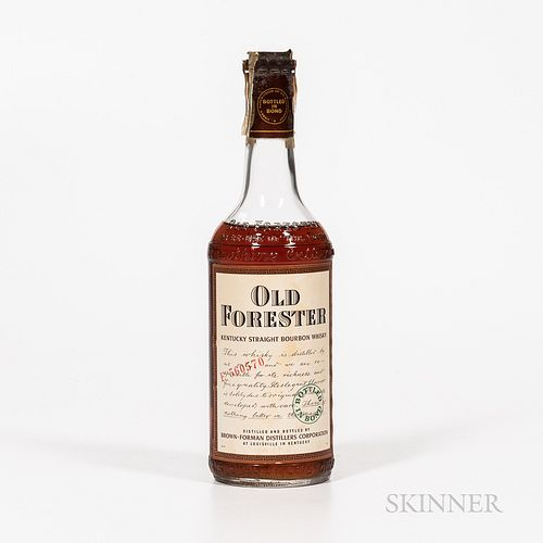 Old Forester 5 Years Old 1952, 1 4/5 quart bottle Spirits cannot be shipped. Please see http://bit.ly/sk-spirits for more info.