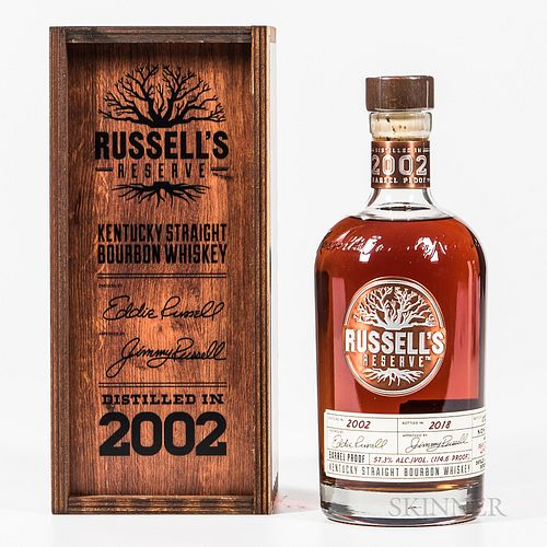 Russell's Reserve 16 Years Old 2002, 1 750ml bottle (owc) Spirits cannot be shipped. Please see http://bit.ly/sk-spirits for more info