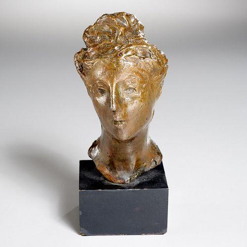 Marino Marini (attrib.), bronze bust, 1948