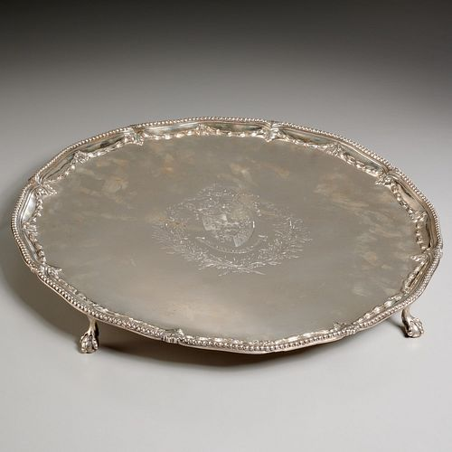 George III silver salver, Joseph Craddock