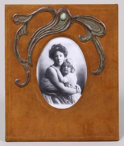Elizabeth Eaton Burton Leather & Hammered Copper c1910