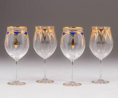 Vienna Secessionist Valentin Eisch Wine Glasses c1914