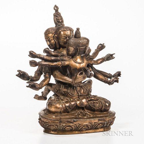 Copper Alloy Figure of Chakrasamvara
