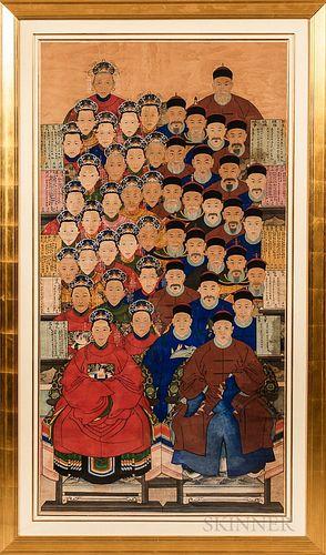 Large Ancestral Portrait Painting