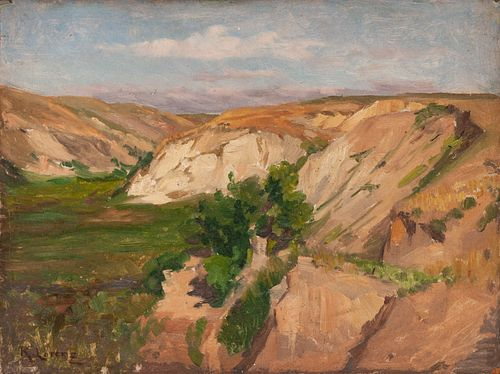 Richard Lorenz (German/American, 1858-1915) Wyoming Landscape