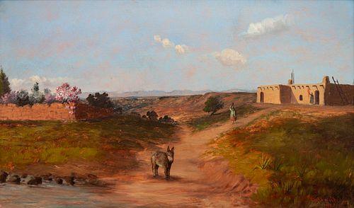 Richard Tallant  (American, 1853-1934) New Mexico Village, 1890