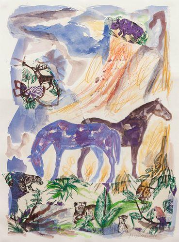Jaune Quick-to-See Smith (French-Cree/Shoshone/Salish, b. 1940) Cheyenne Series No. 53