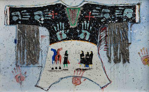 Randy Lee White (American, b. 1951) One Who Seeks Peace, 1986