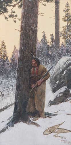 Henry Francois Farny  (American, 1847-1916) Deer Hunting, 1901