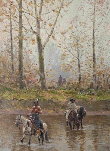 Henry Francois Farny (American, 1847-1916) Moving Camp, 1905