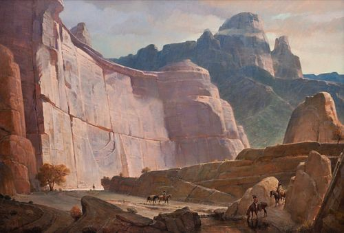 Kenneth Riley  (American, 1919-2015) Canyon Morning