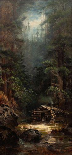 Helen Henderson Chain (American, 1849-1892) Old Miner's Cabin