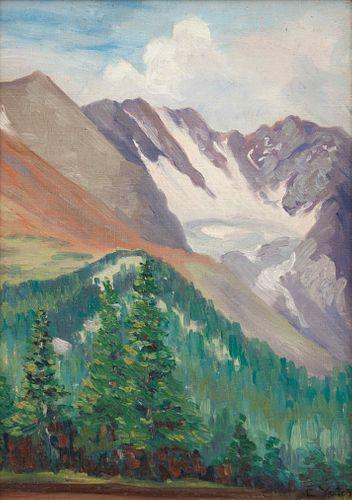 Elizabeth Yates (American, 20th Century) Landscape