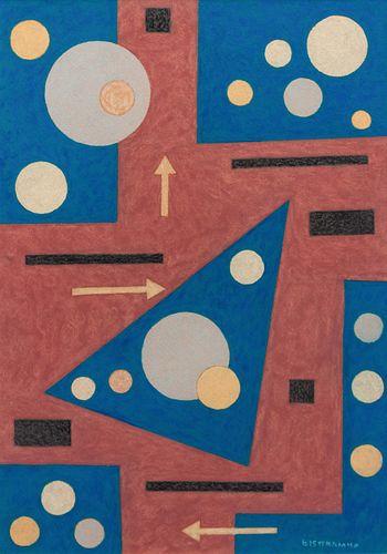 Emil Bisttram (American, 1895-1976) Cosmic Orb, 1940