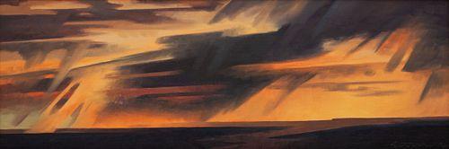 Ed Mell (American, b. 1942) Open Range Rain
